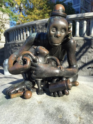 'The Real World' by Tom Otterness Nelson A Rockefeller Park NYC